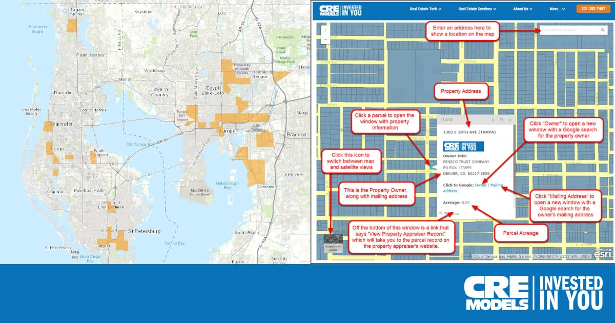 Tampa Opportunity Zones Map - Free Acquisitions Tool on